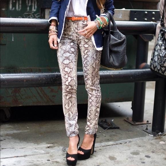 e80a3a7f0c25cd Zara lightweight snake print skinny jeans. M_5a616d3da6e3ea2487d3856c